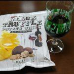 黒トリュフポテチとワイン