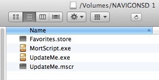 List of files, showing that Favorites.store has been copied