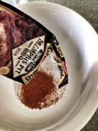 Place bbq rub in a bowl