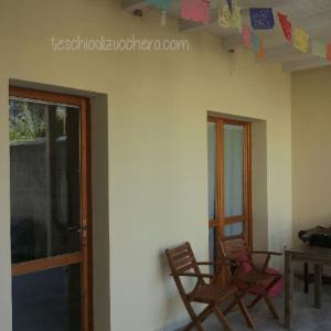 Casa decorata con Papel Picado