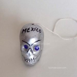 Calaverita de Azucar. Teschio di Zucchero messicano.