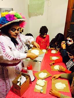 teschi di zucchero per la Festa dia de Muertos 2014