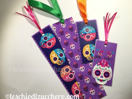 Printable bookmarks di Dia de Muertos