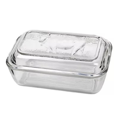 Buy Cow Glass Butter Dish From Our Butter Dishes Range Tesco