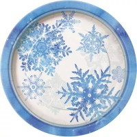Buy Snowflakes Party Paper Plates 23cm from our All Party