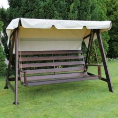 Swing Chair Tesco Sewing Machine Eden Wood Mellby With Canopy Black