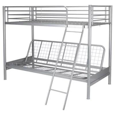 metal frame sofa bed chloe macy s granite bunk with futon