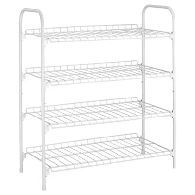 Buy Tesco Metal 4 Shelf Shoe Rack, White from our Storage