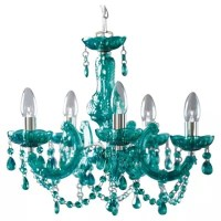 Buy Tesco Lighting Marie Therese Teal from our Chandeliers ...