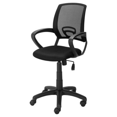 desk chair tesco massage table buy mesh office black from our chairs range catalogue number 213 3291
