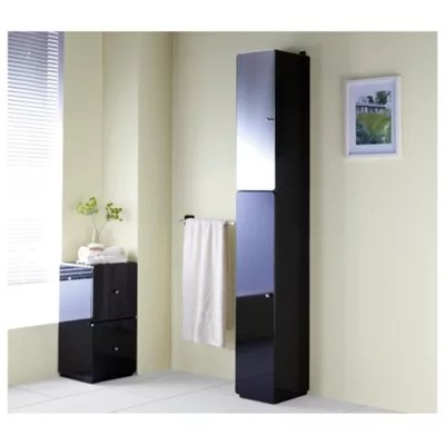 Buy Stockholm Black Gloss Tall Boy from our Bedside Chests