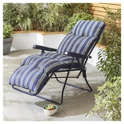 fold up chairs tesco chair hammock swing culcita padded relaxer sun lounger catalogue number 217 8757