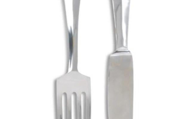 Buy Extra Large Aluminium Knife Fork Wall Art Decoration