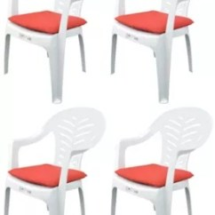 Garden Chair Covers Tesco Best High Pack Of 4 Cushions Fits Resol Palma Cool Red