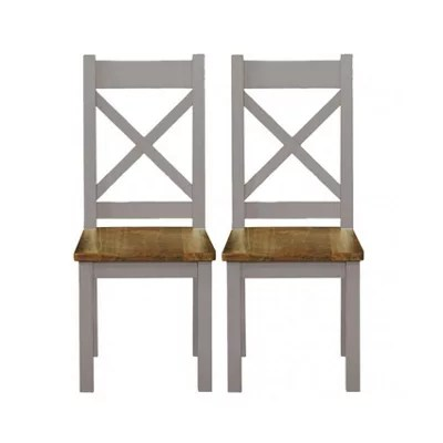 grey painted chairs ergonomic chair for tall person cotswold pair of cross back dining