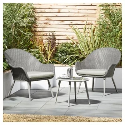 outside tables and chairs tesco discount gold chair covers buy san marino curve 3 piece garden bistro set from our rattan