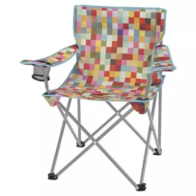 fold up chairs tesco high chair replacement cover folding camping festival colour block