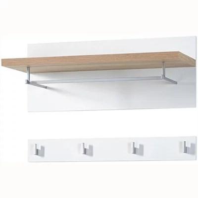 Buy Hall Wall Shelf With Hanging Rail And Coat Rack