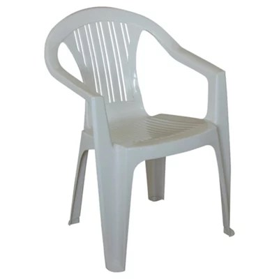 Buy Plastic Stacking Garden Chair White from our Outdoor