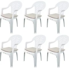 Garden Chair Covers Tesco Racing Car Office Pack Of 6 Cushions Fits Resol Palma Cool Beige