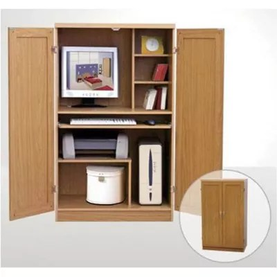 Buy Elements Hideaway Computer Desk in Beech from our
