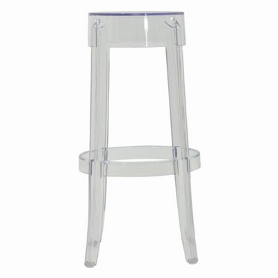 ghost chair replica living room lounge chairs stool high clear