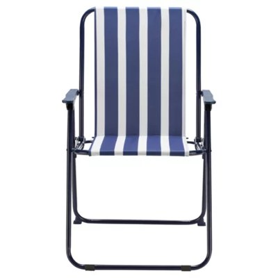 fold up chairs tesco chair caps for legs buy blue stripe folding picnic from our outdoor range
