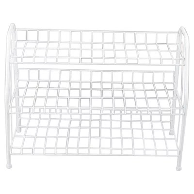 Buy White 3 Tier Metal Shoe Rack from our Storage Boxes