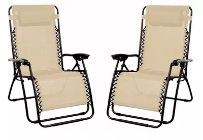 zero g garden chair svan high cushion buy 2 x starmo beige gravity reclining from our catalogue number 551 1475