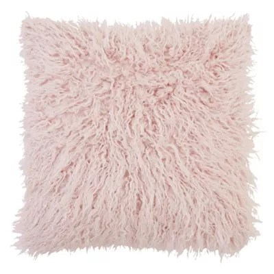 mongolian fur chair cover how much does it cost to reupholster a recliner buy tesco faux cushion pink from our cushions range -
