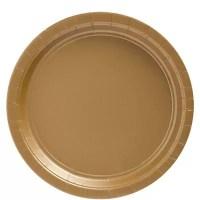 Gold Party Paper Plates 228cm