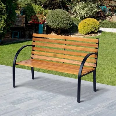 2 seater love chair patio cushions home depot buy outsunny wooden garden bench park outdoor furniture