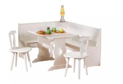 White Corner Kitchen Table