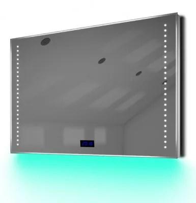 Buy Digital Clock Slim Bathroom Mirror with Under Lighting