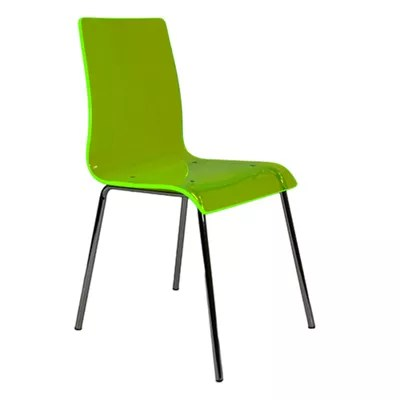 Buy Ava Lime Green Gel Acrylic Dining Chair from our