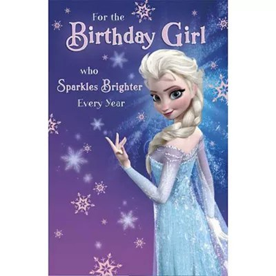 Buy disney frozen birthday card from our party bags amp boxes range