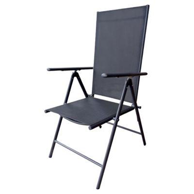 fold up chairs tesco white cushion chair garden furniture seville reclining