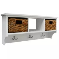 Buy Canterbury - Wall Storage Coat Rack With Baskets ...