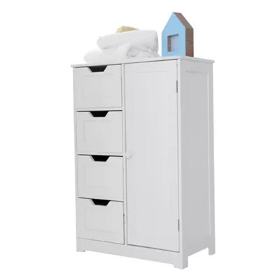 Buy Sennen Freestanding Bathroom Cabinet, White from our