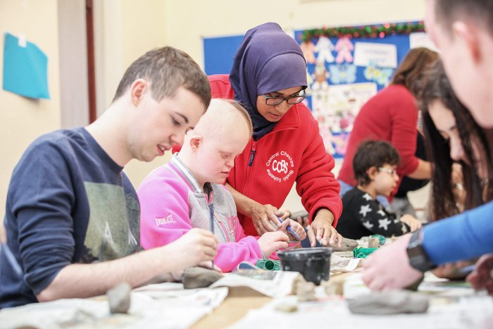 Young people at a community project funded by Tesco Community Grants