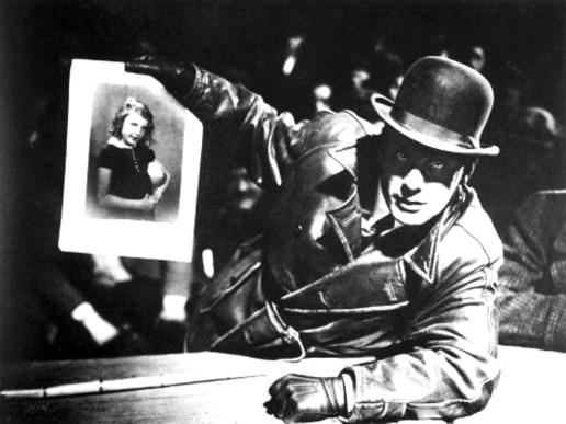 Gustaf Gründgens em M (M, o vampiro de Düsseldorf, 1931), de Fritz Lang.
