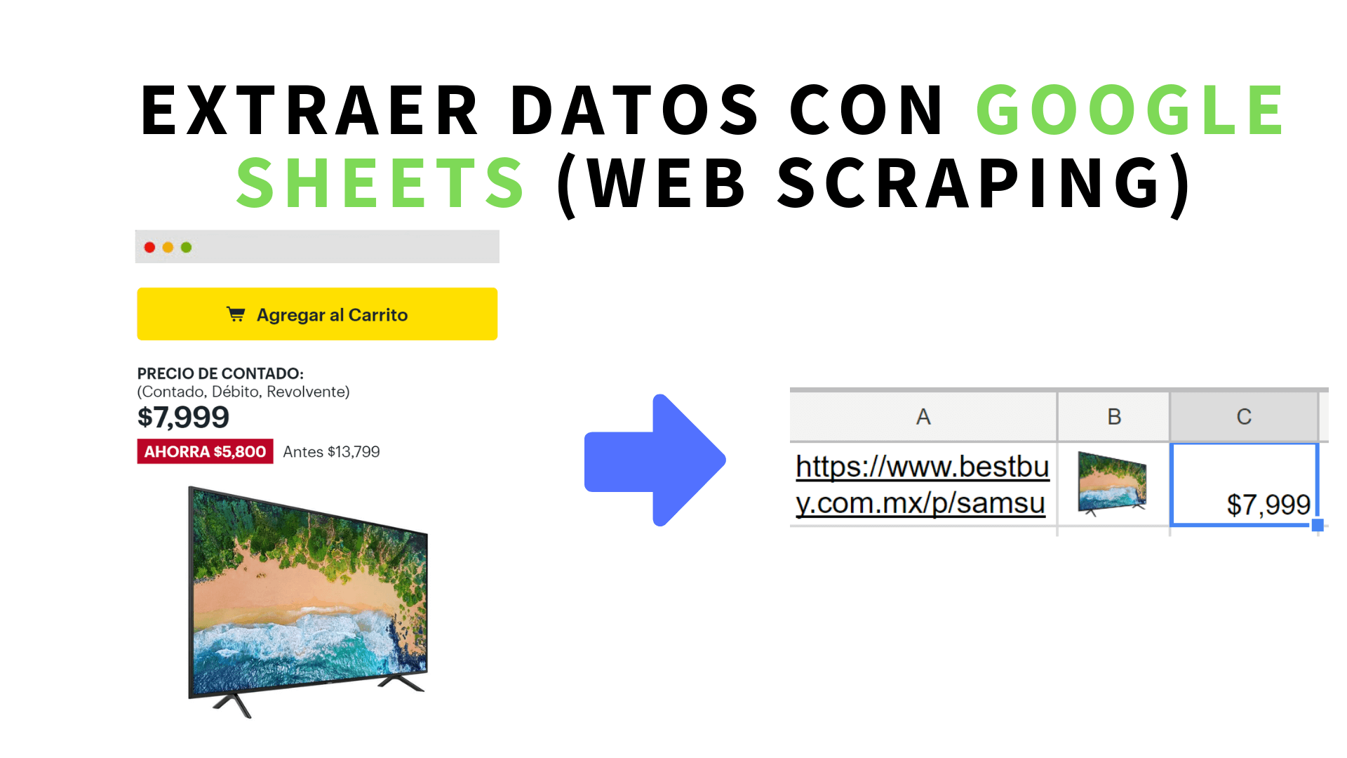 Extraer datos de sitios web con Google Sheets (web scraping)