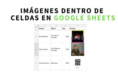 Cómo insertar imágenes dentro de celdas en Google Sheets