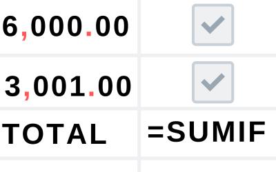 Usar checklists en hojas de cálculo de Google para hacer sumas condicionales