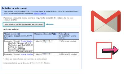 Cerrar sesiones abiertas de Gmail en otros dispositivos y computadoras
