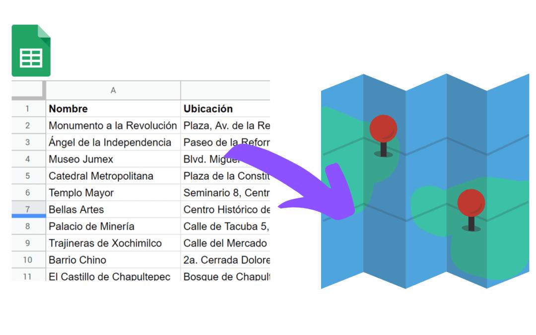 Crear un mapa a partir de una hoja de cálculo de Google Sheets