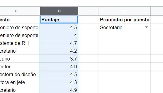 Preparamos datos para un nuevo intervalo con nombre