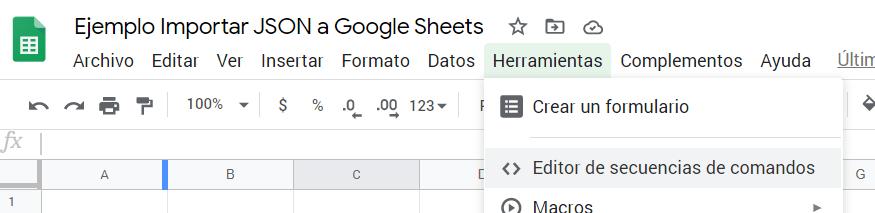 Editor de secuencias de comandos (Script editor)