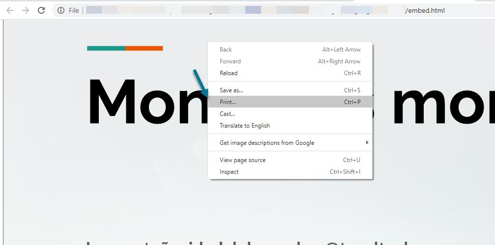 Imprimimos el archivo como PDF