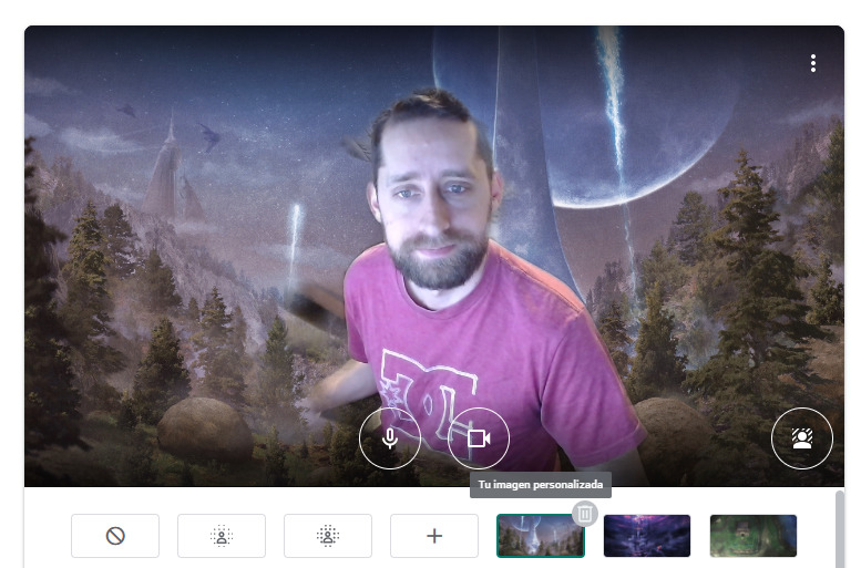 Usar una imagen personalizada como fondo en Google Meet